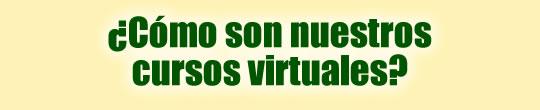 ¿Cómo son nuestros cursos virtuales?